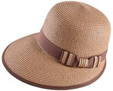 doublebulls hats Cloche Hat Panama hat Women Girls Vacation Bowknot Summer Straw Sun Hat