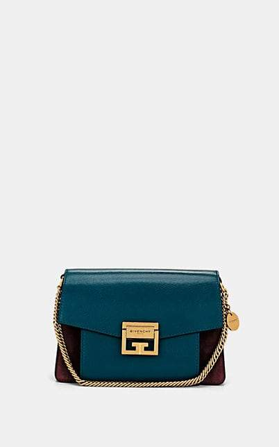 Givenchy Women's GV3 Small Leather & Suede Shoulder Bag - Blue