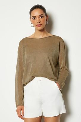 Karen Millen Fine Knit Sheer Jumper