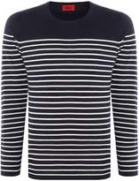 HUGO Men's Soman Knitted Breton Stripe
