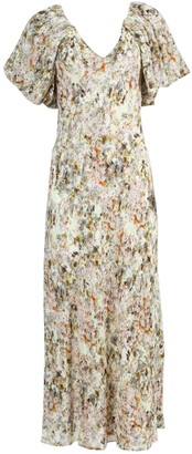Green And Ivory Floral Dress