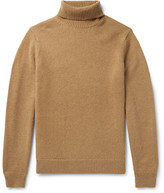 Todd Snyder Camel Hair Rollneck Sweater - Sand