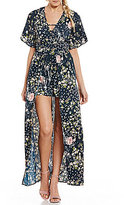 Band of Gypsies Moody Floral Walkthrough Printed Romper