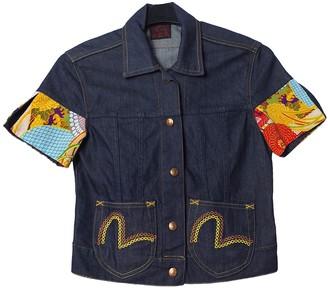 Evisu Blue Denim - Jeans Top for Women