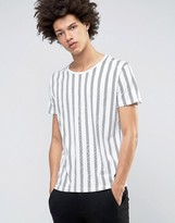 Selected Homme Selected T-shirt With Vertical Stripe