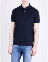 Calvin Klein Marl cotton-jersey polo shirt