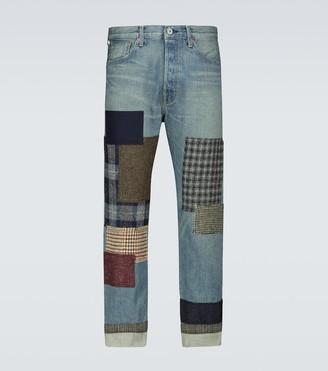 Junya Watanabe Chevron patchwork jeans