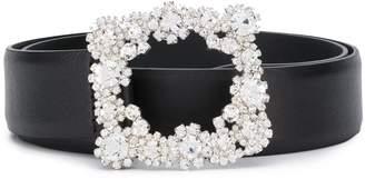 Orciani Crystal-Embellished Belt