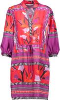 Diane von Furstenberg Chrystie printed silk-twill mini dress