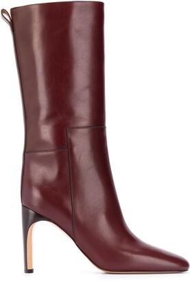 Jil Sander Leather Mid-Calf Boots