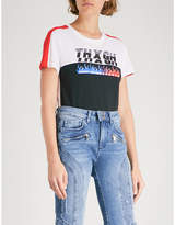 Tommy Hilfiger x Gigi Hadid speed-print cotton-jersey T-shirt