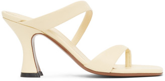 Neous Off-White Leather Sika 80 Heeled Sandals