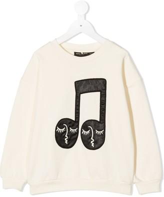 Mini Rodini Music Note-Embroidered Sweatshirt