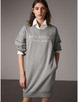 Burberry Embroidered Motif Cotton Jersey Sweatshirt Dress