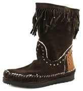 John Bakery Pocahontas Round Toe Suede Mid Calf Boot.