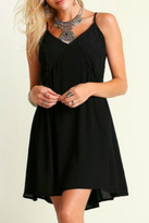 Umgee USA Black Lace Detail Dress
