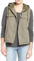 Volcom No Promises Faux Fur Lined Hooded Vest