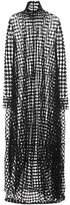 Jil Sander Cotton-blend mesh maxi dress