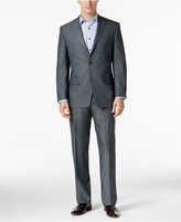 Andrew Marc Men's Classic-Fit Gray Sharkskin Suit