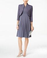 Jessica Howard Pleated Dress and Glitter Bolero Jacket