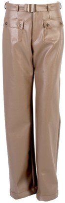 Relax Baby Be Cool Straight Cut Vinyl Trousers With Front Pockets Brown