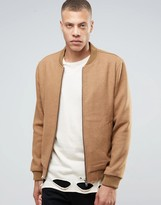 Selected Homme Wool Bomber Jacket