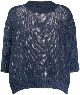 Roberto Collina Chunky-Knit Crew Neck Top