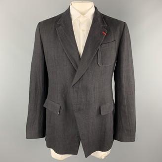 Alexander McQueen Black Linen Suits