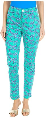 Lilly Pulitzer Kelly Stretch Pants (Everglades Green Heebee Zeebees) Women's Casual Pants