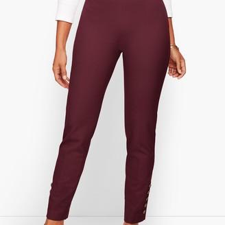 Talbots Chatham Button-Hem Ankle Pants - Curvy Fit