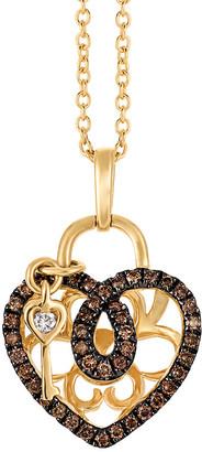 LeVian Le Vian 14K 0.23 Ct. Tw. Diamond Key To My Heart Necklace