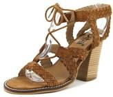 Diba Pop Art Women Open Toe Suede Tan Sandals.