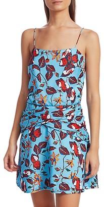 Derek Lam Floral Camisole Flounce Dress