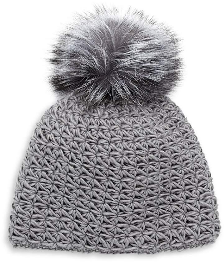 3f5c64fd7 Fox Fur Pom-Pom Hat