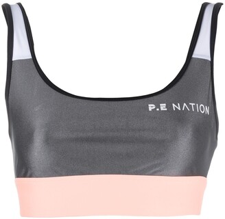 P.E Nation Cropped Logo Print Tank Top