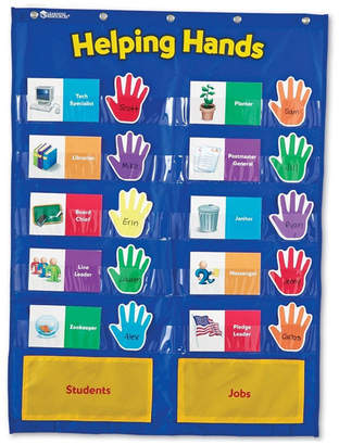 Learning Resources Helping Hands Pocket Chart