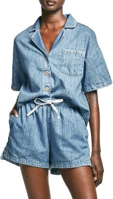 Outland Denim Faith Denim Short Sleeve Button-Up Shirt