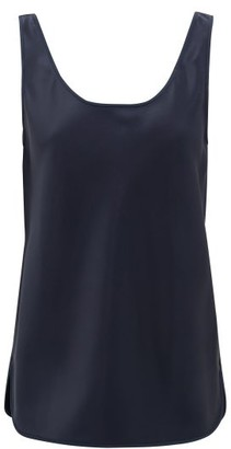 Gabriela Hearst Flora Scoop-neck Silk Tank Top - Womens - Dark Navy