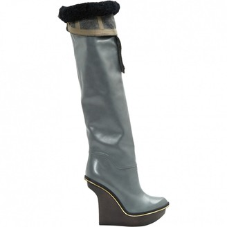 Stella McCartney Stella Mc Cartney Grey Leather Boots