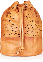 Topshop Perforated Leather Backpack