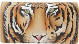 Anuschka Hand Painted Rfid Blocking Accordion Flap Wallet Wtg-Wild Tiger, One Size