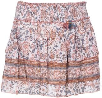 Poupette St Barth Floral cotton miniskirt