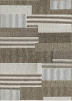 "Couristan Monaco Indoor/Outdoor Starboard Grey-Sand 2'3"" x 11'9"" Runner Area Rug"