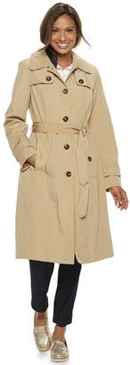 London Fog Women's TOWER by Hooded Trench Coat