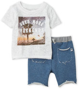 Amy Coe Newborn/Infant Girls) Two-Piece Graphic Tee & Shorts Set