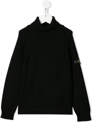 Stone Island Junior Roll Neck Sweater