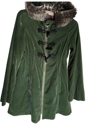 Free People Green Cotton Coats