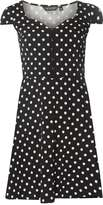 Dorothy Perkins Black Spotted Sweetheart Dress