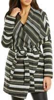 BB Dakota Striped Drape Jacket