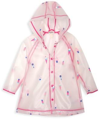 Hatley Little Girl's & Girl's Cool Treats Clear Swing Raincoat